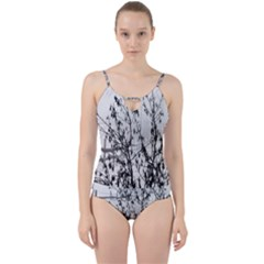 Snow Winter Cold Landscape Fence Cut Out Top Tankini Set