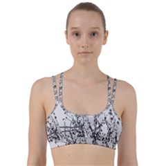Snow Winter Cold Landscape Fence Line Them Up Sports Bra