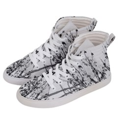 Snow Winter Cold Landscape Fence Men s Hi-top Skate Sneakers by BangZart