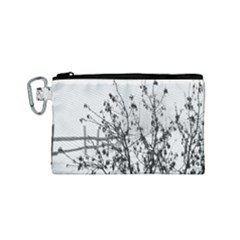 Snow Winter Cold Landscape Fence Canvas Cosmetic Bag (small)
