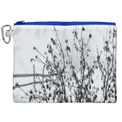 Snow Winter Cold Landscape Fence Canvas Cosmetic Bag (xxl)