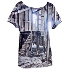 House Old Shed Decay Manufacture Women s Oversized Tee