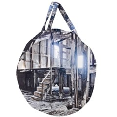 House Old Shed Decay Manufacture Giant Round Zipper Tote
