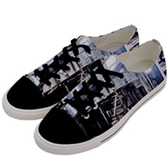 House Old Shed Decay Manufacture Men s Low Top Canvas Sneakers by BangZart