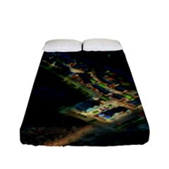 Commercial Street Night View Fitted Sheet (full/ Double Size)