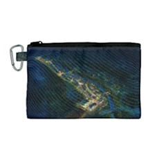 Commercial Street Night View Canvas Cosmetic Bag (medium)