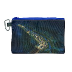 Commercial Street Night View Canvas Cosmetic Bag (large)