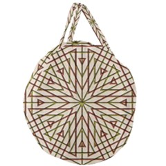 Kaleidoscope Online Triangle Giant Round Zipper Tote