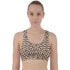 Kaleidoscope Online Triangle Back Weave Sports Bra