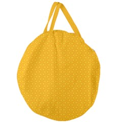 Texture Background Pattern Giant Round Zipper Tote