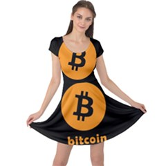 I Accept Bitcoin Cap Sleeve Dress