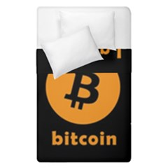 I Accept Bitcoin Duvet Cover Double Side (single Size) by Valentinaart