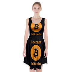 I Accept Bitcoin Racerback Midi Dress by Valentinaart