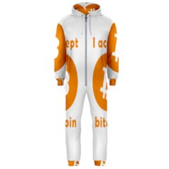 I Accept Bitcoin Hooded Jumpsuit (men)