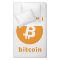 I Accept Bitcoin Duvet Cover Double Side (single Size)