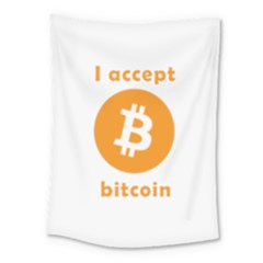I Accept Bitcoin Medium Tapestry by Valentinaart