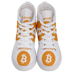 I Accept Bitcoin Men s Hi-top Skate Sneakers
