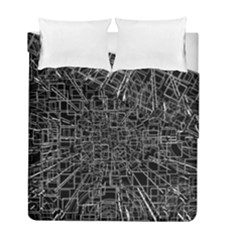 Black Abstract Structure Pattern Duvet Cover Double Side (full/ Double Size)