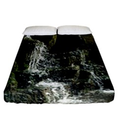 Water Waterfall Nature Splash Flow Fitted Sheet (california King Size)