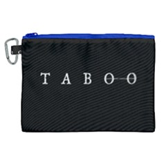 Taboo Canvas Cosmetic Bag (xl) by Valentinaart