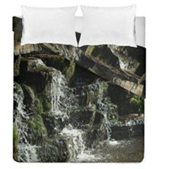 Water Waterfall Nature Splash Flow Duvet Cover Double Side (queen Size)