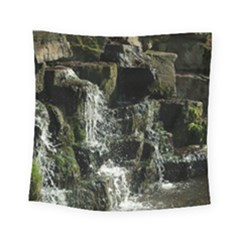 Water Waterfall Nature Splash Flow Square Tapestry (small)