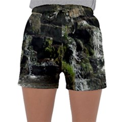Water Waterfall Nature Splash Flow Sleepwear Shorts
