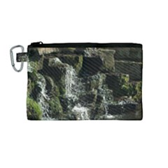 Water Waterfall Nature Splash Flow Canvas Cosmetic Bag (medium)