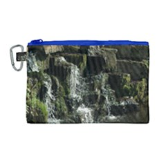 Water Waterfall Nature Splash Flow Canvas Cosmetic Bag (large)