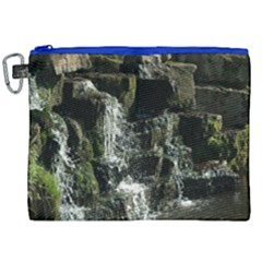 Water Waterfall Nature Splash Flow Canvas Cosmetic Bag (xxl) by BangZart