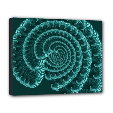 Fractals Form Pattern Abstract Deluxe Canvas 20  X 16