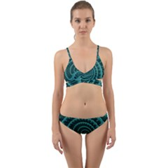Fractals Form Pattern Abstract Wrap Around Bikini Set