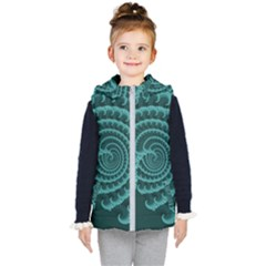 Fractals Form Pattern Abstract Kid s Puffer Vest