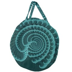 Fractals Form Pattern Abstract Giant Round Zipper Tote