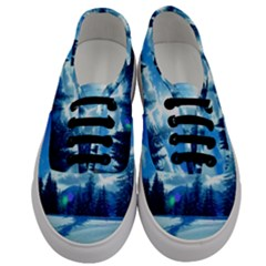 Ski Holidays Landscape Blue Men s Classic Low Top Sneakers