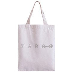 Taboo Zipper Classic Tote Bag by Valentinaart