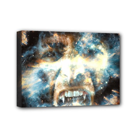 Universe Vampire Star Outer Space Mini Canvas 7  X 5  by BangZart