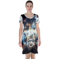 Universe Vampire Star Outer Space Short Sleeve Nightdress by BangZart