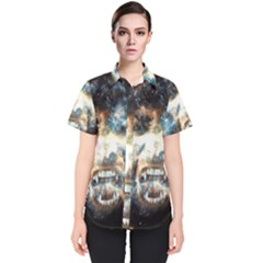 Universe Vampire Star Outer Space Women s Short Sleeve Shirt