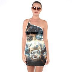 Universe Vampire Star Outer Space One Soulder Bodycon Dress