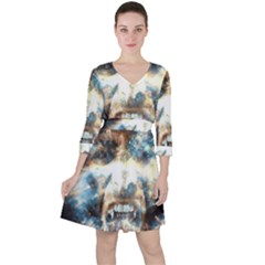 Universe Vampire Star Outer Space Ruffle Dress