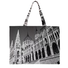 Architecture Parliament Landmark Zipper Large Tote Bag by BangZart
