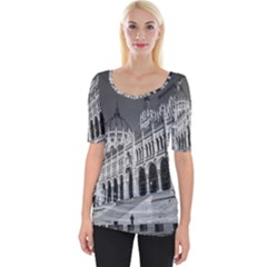 Architecture Parliament Landmark Wide Neckline Tee by BangZart