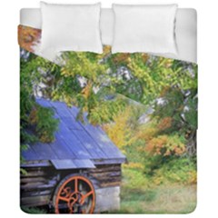 Landscape Blue Shed Scenery Wood Duvet Cover Double Side (california King Size) by BangZart