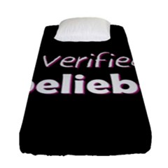 Verified Belieber Fitted Sheet (single Size) by Valentinaart