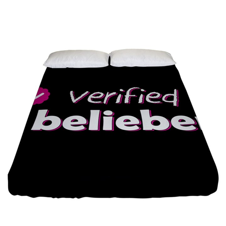 Verified Belieber Fitted Sheet (California King Size)