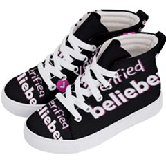 Verified Belieber Kid s Hi Top Skate Sneakers by Valentinaart