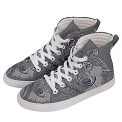 Wolf Forest Animals Men s Hi-top Skate Sneakers by BangZart