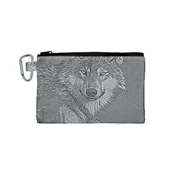 Wolf Forest Animals Canvas Cosmetic Bag (small)