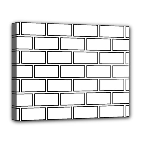 Wall Pattern Rectangle Brick Deluxe Canvas 20  X 16